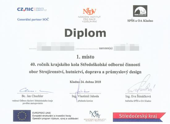 Diplom SOČ