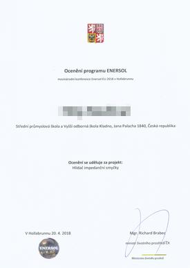 Ocenění programu Enersol
