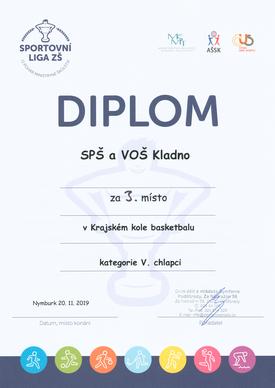 Diplom basketbal krajské finále
