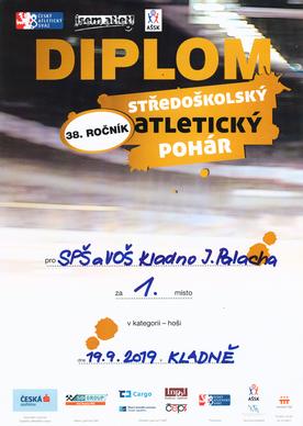 Diplom Středočeský atletický pohár